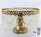 "Acrylic Strands Cake Stand Round 12""-30cm French Gold"