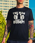 Man Behind The Bump T-Shirt - Mens Funny Father Dad Baby Pregnancy Gift Novelty