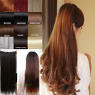 Premium Quality 40 Colors Clip In Hair Extensions CUrly Straight Wave As Human