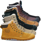 Palladium Mens Pampa Sport Cuff Water Proof Leather Shoe Wool Lined Ankle Boots