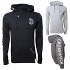 Crosshatch Mens Melthorn Designer Raised Ink Printed Casual Pullover Hoodie