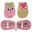 Owl Manicure Set in Dotty Case Girls or Ladies Gifts Presents