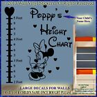 Minnie Mouse Wall Stickers Height Chart Personalised Kids Name BEST DEAL!!  FT