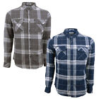 Crosshatch Mens Mitty Check Tarten Print Designer Long Sleeved Cotton Shirt