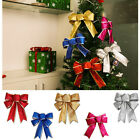 5 Colors Bows Christmas Tree Party Gift Present Xmas Bowknot Decoration Ornament