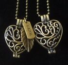 Essential Oil Heart Diffuser Necklace Pendant Aromatherapy Necklace Locket on eBay
