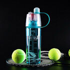 Water Bottle Spray Cup Portable Sport Camping Multi-color 400ml/600ml