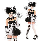 Christys Dress Up Ladies Tricksterina Jester Clown Halloween Fancy Dress Costume