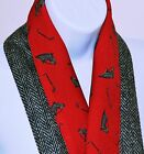 HARRIS TWEED & VINTAGE COUNTRY scarf Christmas Gift RED STALLION HORSE DUCKS