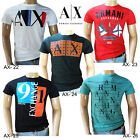 NWT  Armani Exchange AX Men's Crew Neck Tee T-Shirt 100% CottonSize S-M-L-XL-XXL