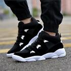 New Men's Fashion Lace Up Sneakers Casual Flats Athletic High Top Running Shoes
