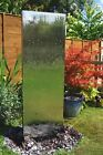 Stainless Steel Double Sided Vertical Water Wall Garden Yard Feature Fountain