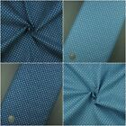 3.8oz 100% Cotton Pure Denim Fabric, Small Square Cube Print Blue Navy per metre