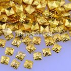 500PCS frosted square gold silver metal 3d nail art decoration studs accessoires