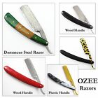 Professional Wood Handle Straight Edge Barber Razor Folding Shaving Knife Razor