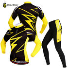 2017 Men Team Cycling Bike Bicycle Clothing Suit Long Sleeve Jersey&Padded Pants