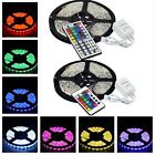 Waterproof IP65 5M RGB 300 LED Strip Rope Light 5050 SMD + 24/44 key IR Remote