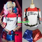Donna Costumi Halloween Cosplay T-Shirt Suicide Squad Arlecchino Joker Top Lotto