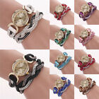 Chic Women's Crystal Band Sparkling Wave Bracelet Analog Quartz Wrap Wrist Watch