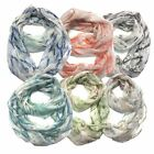 Infinity Scarf Top Fashionland Premium Soft Marble Pattern Sheer Infinity Scarf
