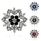 1 Piece Women's Gold/Silver Plated Rhinestone Snowflake Jewelry Gift Brooch Pin