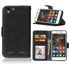 For Lenovo Smart Phone Luxury Wallet ID Card Matte Leather Case Cover Skin / DK