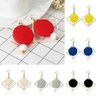 6 Colors Fashion Women Lady Gold Plated Geometric Round Hook Dangle Earrings