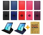PU Leather Case For Samsung Galaxy Tab A 8.0 / A 9.7 & Tempered Glass Protector