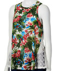 NWT Almost Famous Tropical Ribbed Lace Tank Junior's Sizes Medium, Large