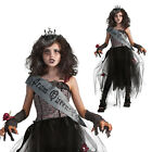Girls Gothic Prom Queen Rubies Fancy Dress Costume Childrens Halloween Outfit
