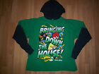 ANGRY BIRDS BOYS LONG SLEEVE HOODED SHIRT NEW W TAG SIZE 14/16 AND 18 GREEN