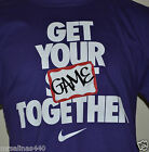 New NIKE GET YOUR GAME TOGETHER Mens BASKETBALL HOOPS PURPLE T-Shirt 698870 566