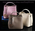 Womens Genuine Leather Shoulder Bucket handbag messenger fashion crossbody Bag