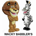 BNIB Collectable  Madagascar 3  Exclusive Wacky Babbler Alex or Marty by Mattel