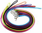 Rolled Leather Dog Leads. VERY Soft, Chrome fittings. 4 Foot - 121 cm. 3 Widths,