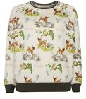 Bambi Official Ladies Jumper Vintage Retro Design Classic Christmas Style Disney