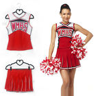 School Girl Glee Musical Cheerleader Costume Full Outfits Fancy Dress Uniform
