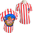 Bullseye Bully Dart Shirt - With Bully Logo - Red & White Stripes - Small - 5XL