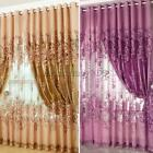 European Peony Beads Voile Room Window Tulle Sheer Curtain 2.5*1M 4 Colors