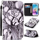 Fashion pattern Magnetic Flip Card Wallet Leather Case Cover For Samsung Galaxy