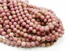 UKcheapest-genuine natural Rhodochrosite pink round 4 6 8 10 12 gemstone beads