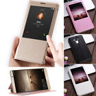 Luxury PU Leather Protective Flip Case For Huawei Mate 9 9 Pro Window View Cover