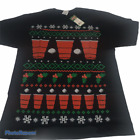 Mens Novelty Holiday Party Funny Red Solo Cup Short Sleeve Tee Shirt Size L XL