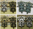 3/10pcs 44x39mm Retro Style skull motorcycle alloy Charms Pendants