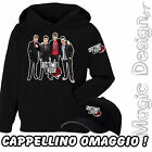 BIG TIME RUSH ALBUM BOY BAND NOVITA' FELPA CON CAPPELLINO OMAGGIO UNISEX KIDS
