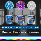 50 LED LIGHT SAKURA BALL CHRISTMAS HANGING TREE XMAS PARTY 3 COLOUR INDOOR LIGHT