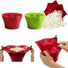 SILICONE IDEAL MICROWAVE MAGIC POPCORN MAKER CONTAINER KITCHEN COOKING HOT TOOL