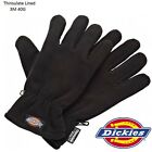 Mens DICKIES 3M 40G Thinslate Thick Warm Wooly Fleece Gloves Winter Ski ONE SIZE