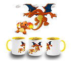 TAZZA GIALLOCHARIZARD CHARMANDER POKEMON YELLOW MUG tasse ITALY