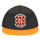 Independent Bauhaus Cross Flexfit Fitted Stretch Hat Black Orange